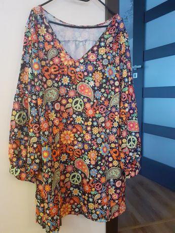 kolorowa tunika w kwiaty xxxxl