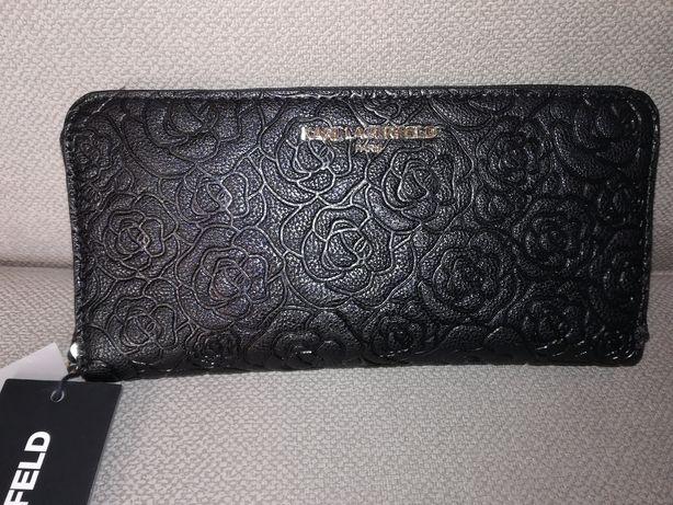 Karl Lagerfeld, czarny portfel