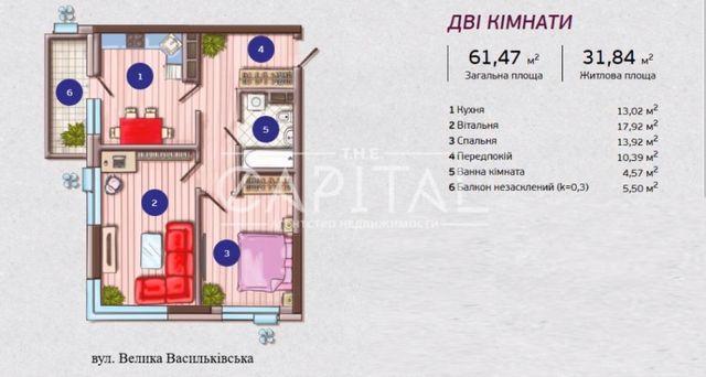 продажа видовой 2 комнатной видовой квартиры ЖК ФРАНЦУЗСКИЙ КВаРТаЛ г.