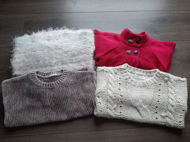 4 swetry ZARA f&f matalan r.104/110