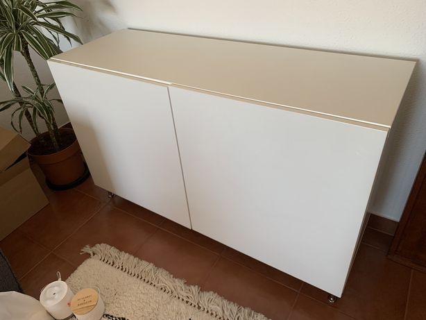 Aparador IKEA BESTA Branco 4 Prateleiras