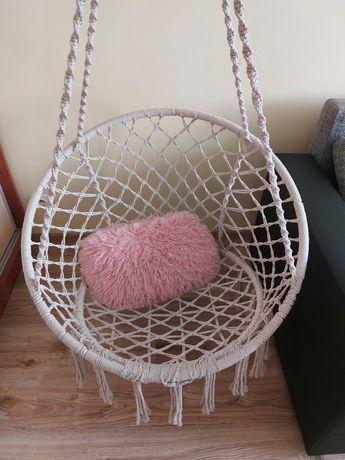 Huśtawka fotel wiszący hamak boho