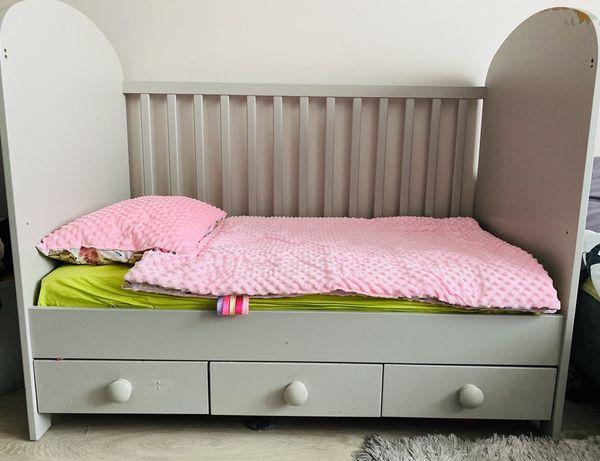 Łóżeczko IKEA gonatt wymiary 120cmx60cm z materacem