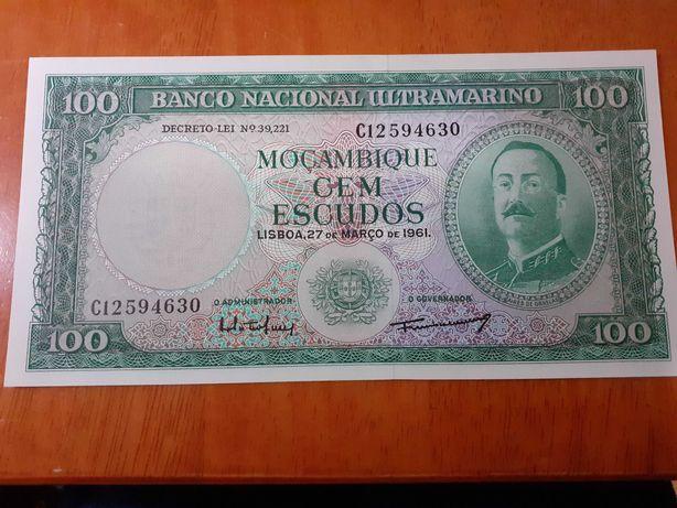 lindo lote de notas de Moçambique novas e mbc