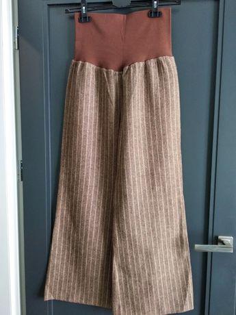 Wełniane spodnie ciążowe r. L