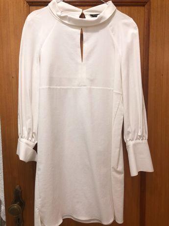 Vestido branco massimo  dutti portes incluídos