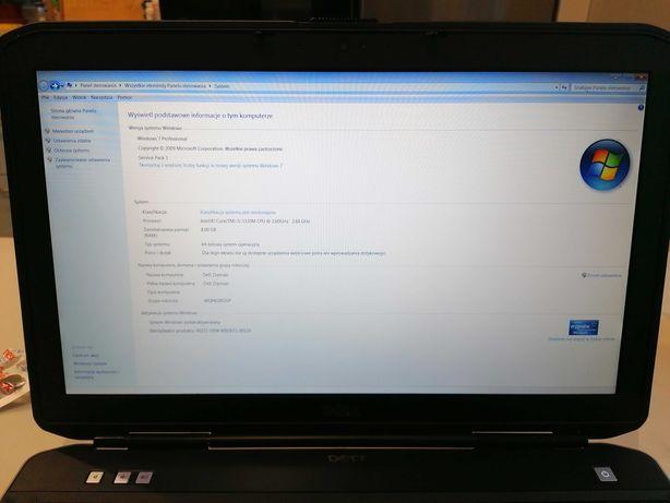 Biznesowy Laptop Dell Latitude E5530 I5-3320 8GB DDR3 SSD256 HDD 500