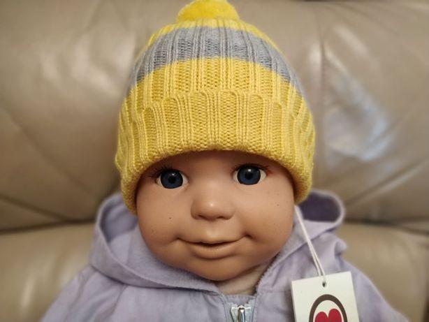 Nowa duńska czapka 100% soft merino 0-9m