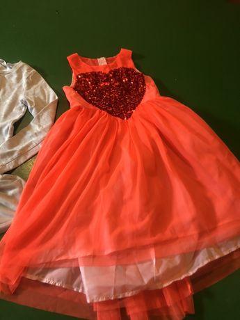 Duza paka ubran dziewczynka 128-140