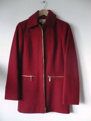 nowy MICHAEL KORS rozm. 4 oryginalny płaszcz wełniany czerwony