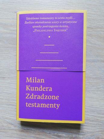 Książka Milan Kundera zdradzone testamenty