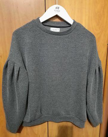 Pull&bear свитер кофта рукава буфы фонарик клеш широкие