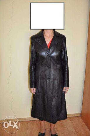 Ładny prawie nowy płaszcz skórzany
