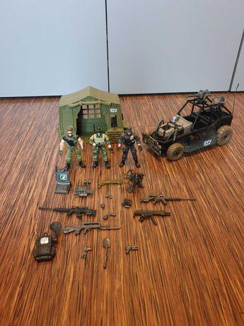 Zestaw żołnierze True Heroes Sentinel1 namiot-baza oraz jeep