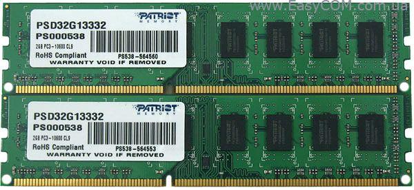 Оперативная память для ПК PARTIOT