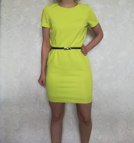 F&F sukienka Piękna Limonka Neonek Bloggerska Insta  Rozmiar S M