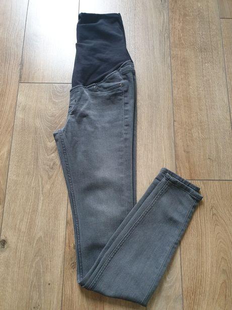 Spodnie ciążowe jeansy hm h&m xs 34 szare