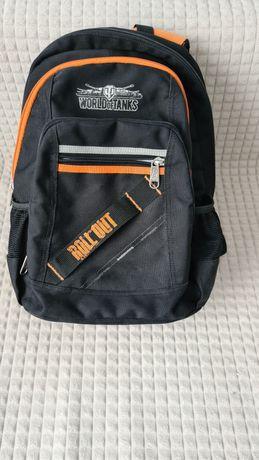 Шкільний рюкзак чорний з помаранчевими молніями