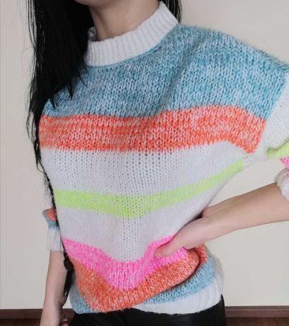 Sweter damski kolorowy