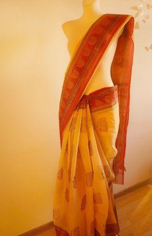 Jedwab indyjski sari