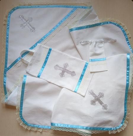 Крыжма для крещения, крестильный комплект