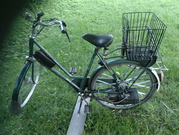 Rower z silnikiem spalinowym Sachs dolmar