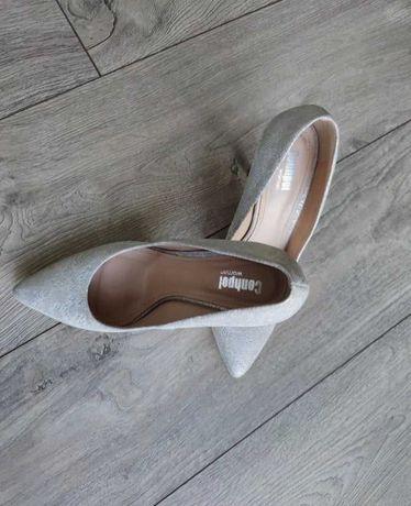 Ślubne buty, srebrne