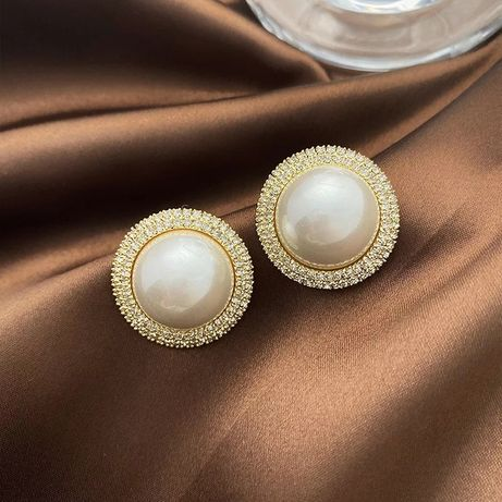 НОВІ сережки з перлинами
