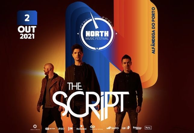 2 Bilhetes The Script - 2 Out 2021 - North Music Festival