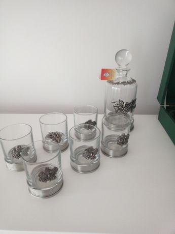 Conjunto vidro e estanho