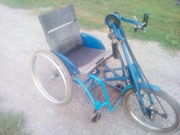 хэндбайк,трехколесный велосипед с ручным управлением для инвалидов