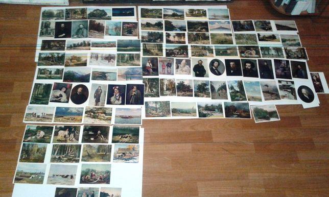 Коллекция почтовых чистых открыток разных издательств, 99 штук