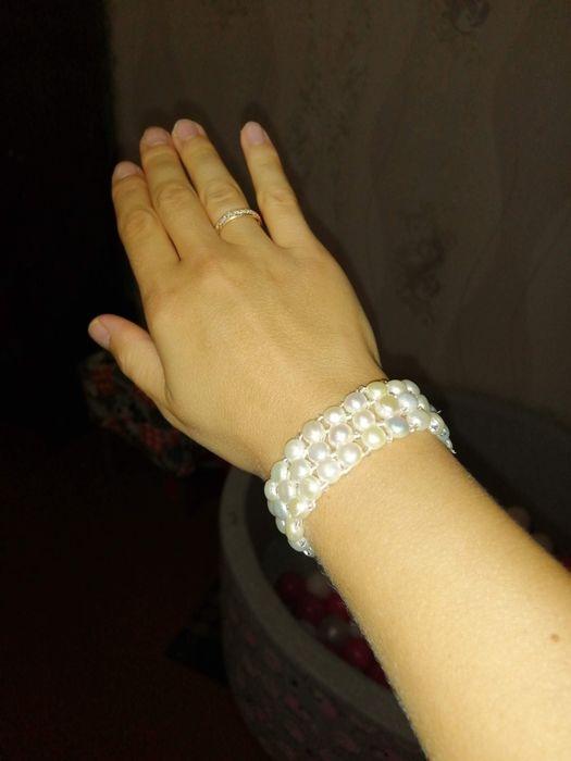 Продам браслет из эко жемчуга Сумы - изображение 1
