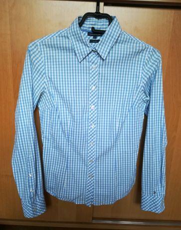 Niebieska koszula Tommy Hilfiger w kratę