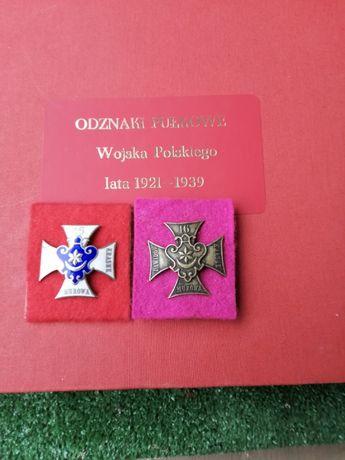 ODZNAKI Oficerska i Żołnierska 16 pułku piechoty Ziemi Tarnowskiej.