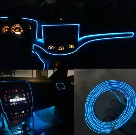 Подсветка для салона 5 М автомобиля с адаптером в прикуриватель