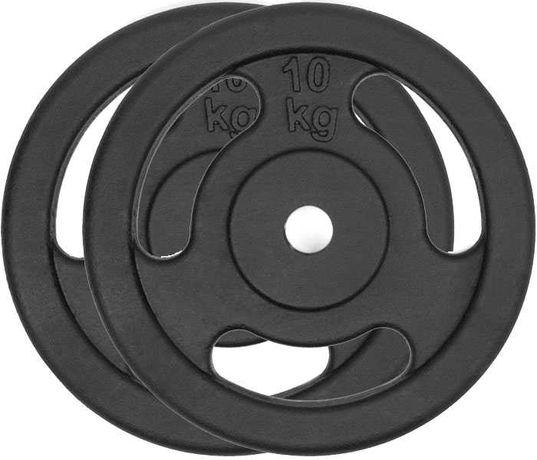 Obciążenie żeliwne zestaw 20kg 2 talerze po 10kg KIEROWNICA 28mm