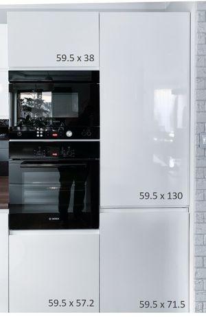 Komplet 26 frontów kuchennych lakierowanych