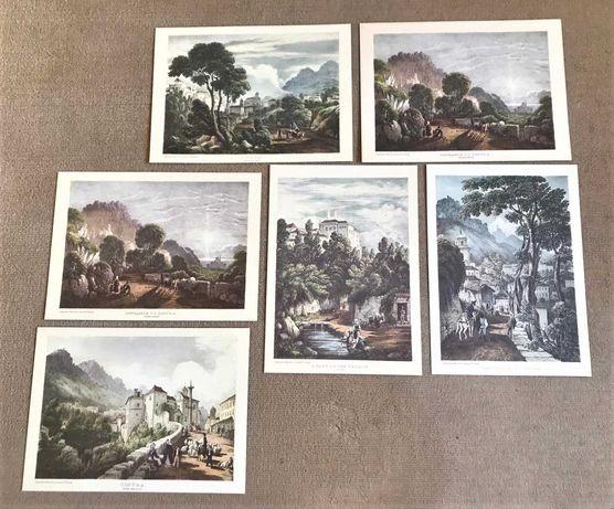 Conjunto de 6 gravuras de Sintra