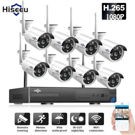 Sistema de vigilância CCTV Sem fios FullHD/1080p/2.0mpx 8 Câmaras