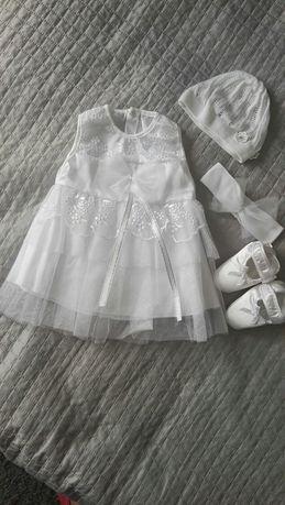 Sukienka do chrztu, komplet