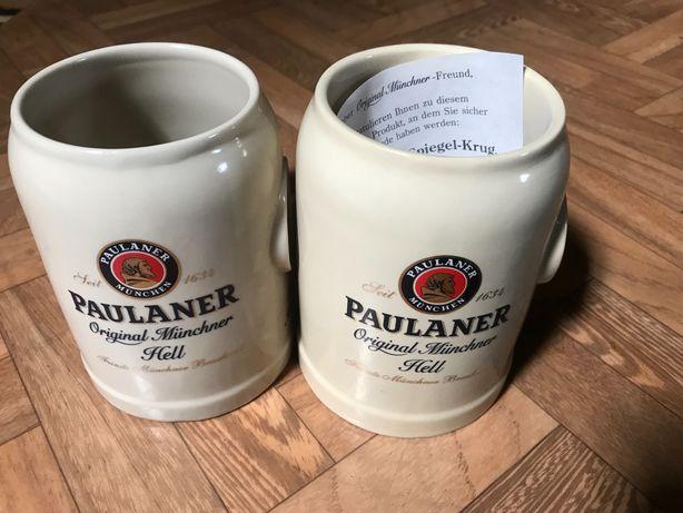 2x Kufel  do piwa z lusterkiem PAULANER rarytas !!
