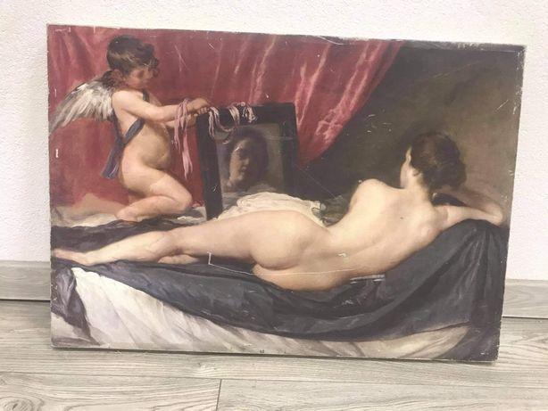 """Reprodukcja """" The Rokeby Venus"""" Diego Velazquez 49 na 70,5cm"""