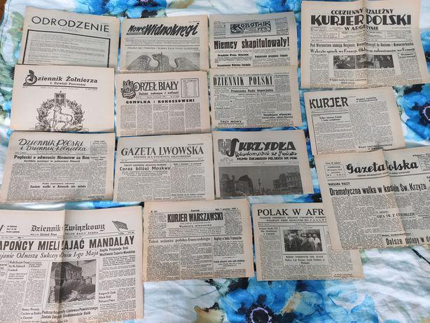 Gazety z 2 wojny światowej.