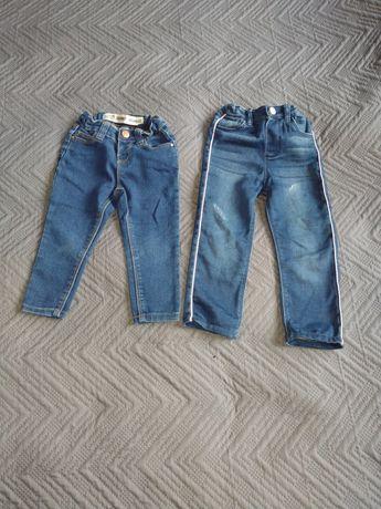 Spodnie dziewczęce 92 i 86
