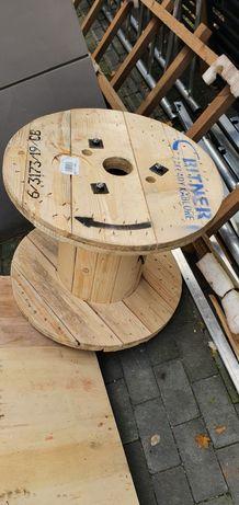 Stolik retro drewniany - beben ze szpuli kabla