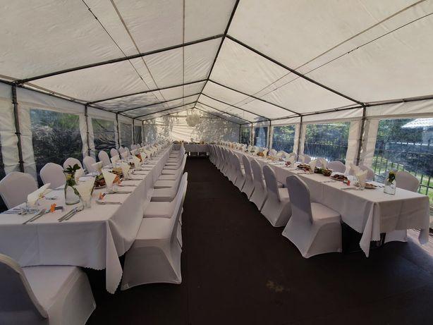 Wynajem namiotów hal namiotowych ogrodowych z wyposażeniem Warszawa