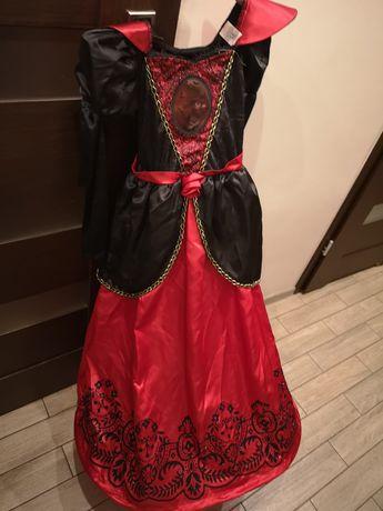 Sukienka czarownicy wiedźmy czarownica roz.9-10 lat(134-140cm)