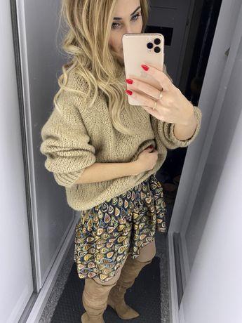 Sweter Zara wełniany XS