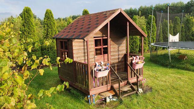 Domek drewniany dla dzieci na działkę
